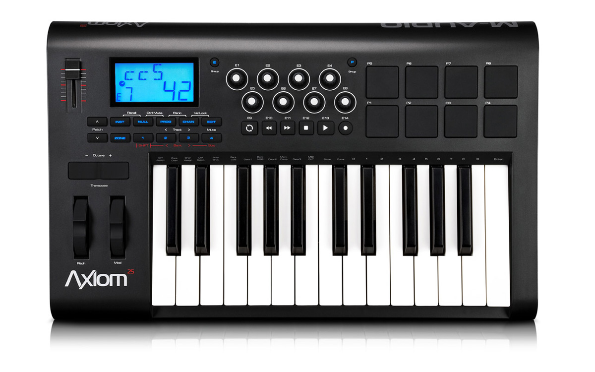 m audio axiom 25 midi controller equipment catalog. Black Bedroom Furniture Sets. Home Design Ideas